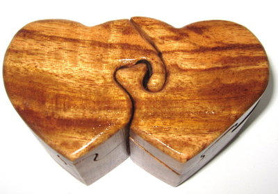 Two Hearts Puzzle Box
