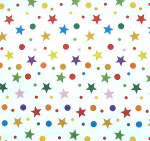 Stars and Circles Gift Wrap Paper