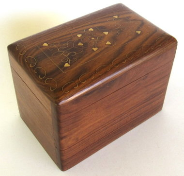 India Brass Inlay Puzzle Box